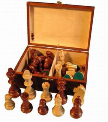 ChessEbook Schachfiguren aus Holz Staunton Nr 6 im Holzkistchen - 1