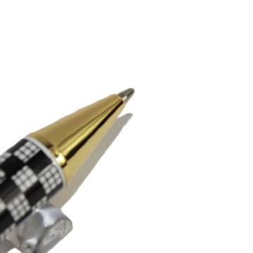 Gullor Edelste Schachbrett Jinhao 500 Kugelschreiber schwarz und golden-clip -