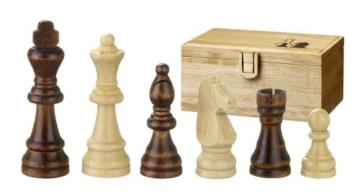 Philos 2005 - Schachfiguren Remus, Königshöhe 89 mm, in Figurenbox -