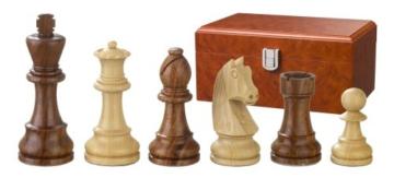 Philos 2189 - Schachfiguren Artus, Königshöhe 110 mm, doppelt gewichtet, in Figurenbox -