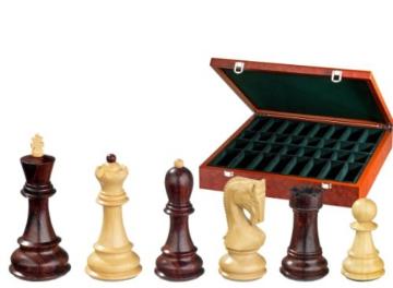 Philos 2254 – Schachfiguren Peter der Große, Königshöhe 95 mm, extra schwer gewichtet, in Figurenbox - 1