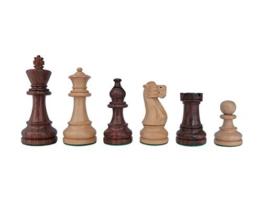 SchachQueen - Bundesliga Turnier Schachfiguren Staunton American braun/weiß Holz Königshöhe 98 mm -