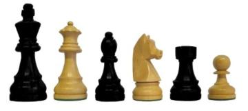 SchachQueen – Bundesliga Turnier Schachfiguren schwarz/weiß Classic Holz Königshöhe 97 mm - 1