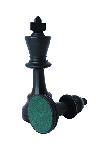 SchachQueen - Schachset - komplettes Schachspiel mit Schachbrett und Schachfiguren Plastik Feldgröße 57 mm Königshöhe 97 mm (schwarz/weiß) -
